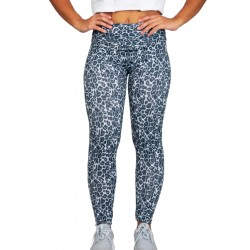 Licras y mallas para mujer running push up y suplex. (Leopardo Gris NEW)