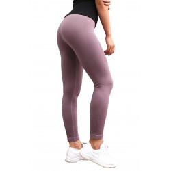 Mallas para mujer running. (Moradas Push Up)