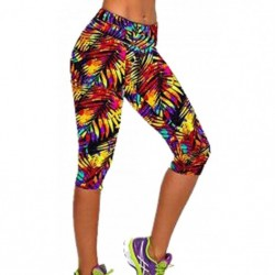 Mallas mujer piratas y cortas fitness para running, pilates y yoga. Licras con estampados (Multicolor Calido)
